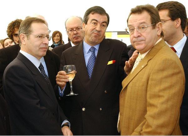 Mantilla con Cascos, Ventura Pérez Mariño y Feijóo. // Cameselle