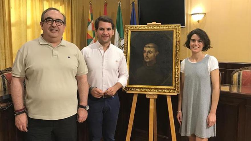Restaurado en Cabra el lienzo de un retrato de San Juan de Dios