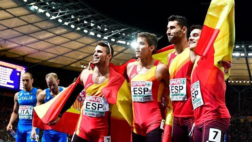 A España le sobran 20 metros en el 4x400 y obtiene el bronce
