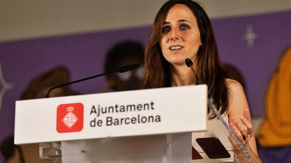 La ministra Ione Belarra, ahir a Barcelona. | EUROPA PRESS