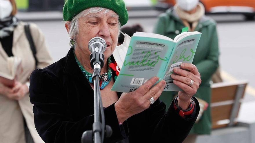 Día del libro en Vigo: la literatura vence al frío y la lluvia