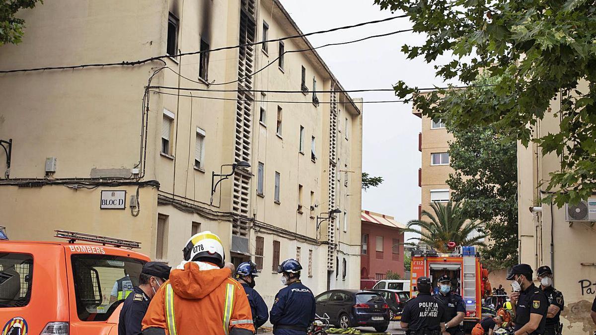 Detenido por el incendio en el que murió un hombre en Algemesí   PERALES IBORRA