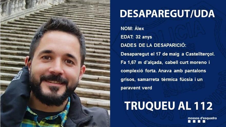 Troben sense vida el cos del jove de Castellterçol desaparegut dilluns