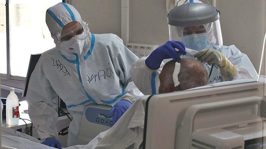 Seis de cada 10 ingresados por covid no estaban vacunados