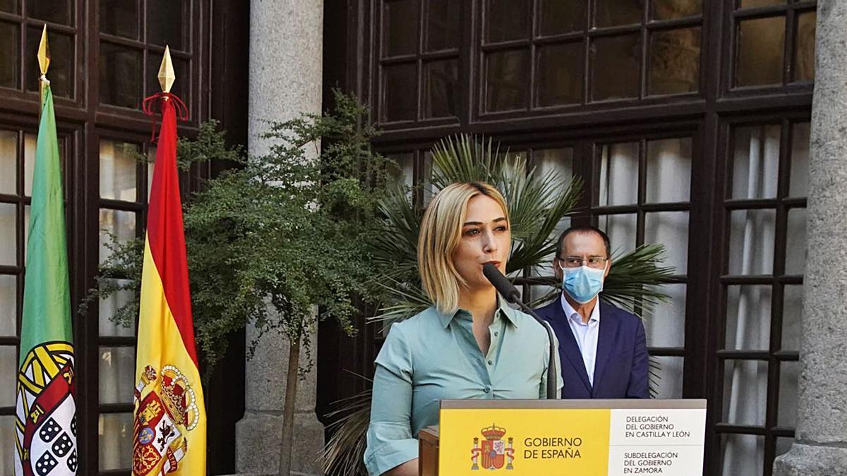 Isabel Ferreira, durante una visita reciente a Zamora.