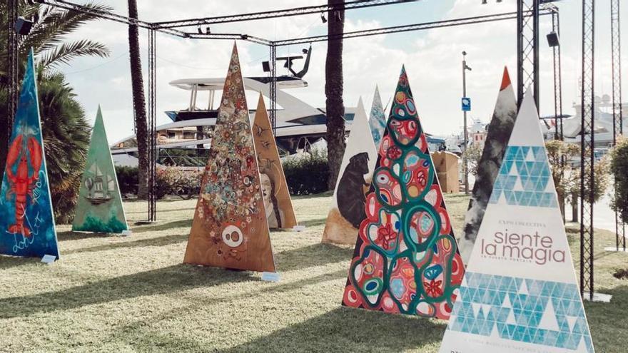Der Hafen von Puerto Portals füllt sich zu Weihnachten mit Kunst