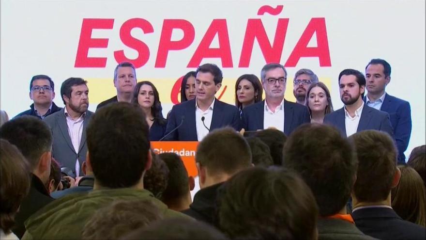 Albert Rivera: «Els votants han volgut més VOX i menys centre»