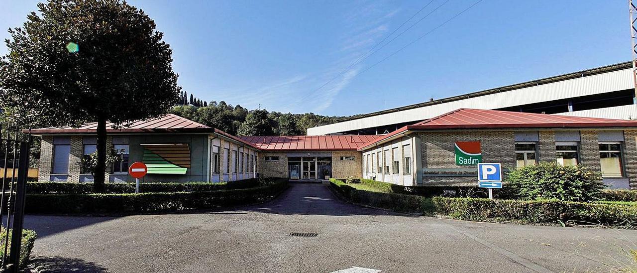 Las oficinas de Sadim en  Ciaño.