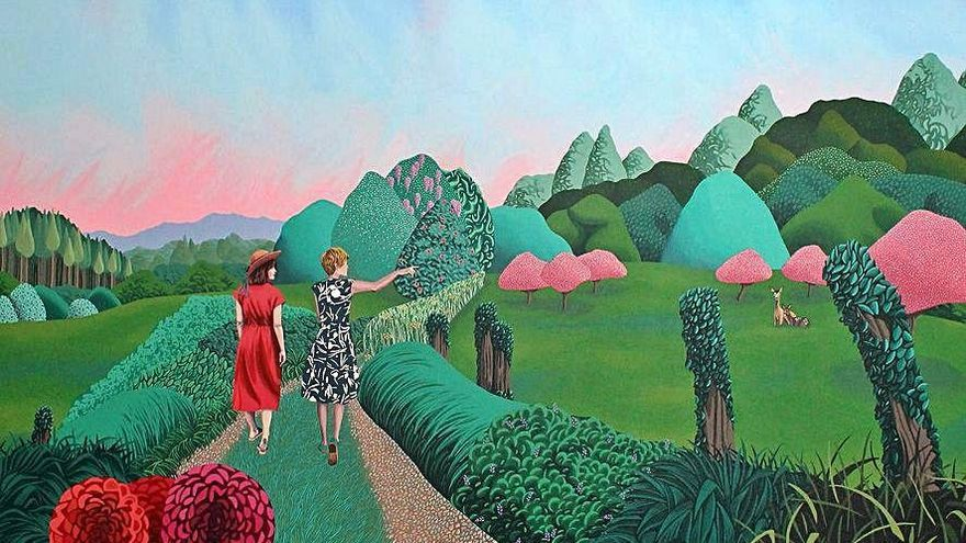 Helena Toraño expone 24 de sus coloridas obras en la galería Gema Llamazares