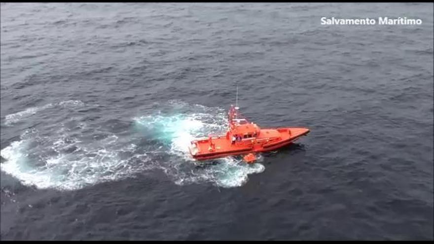Rescate de los tres tripulantes del Olisan
