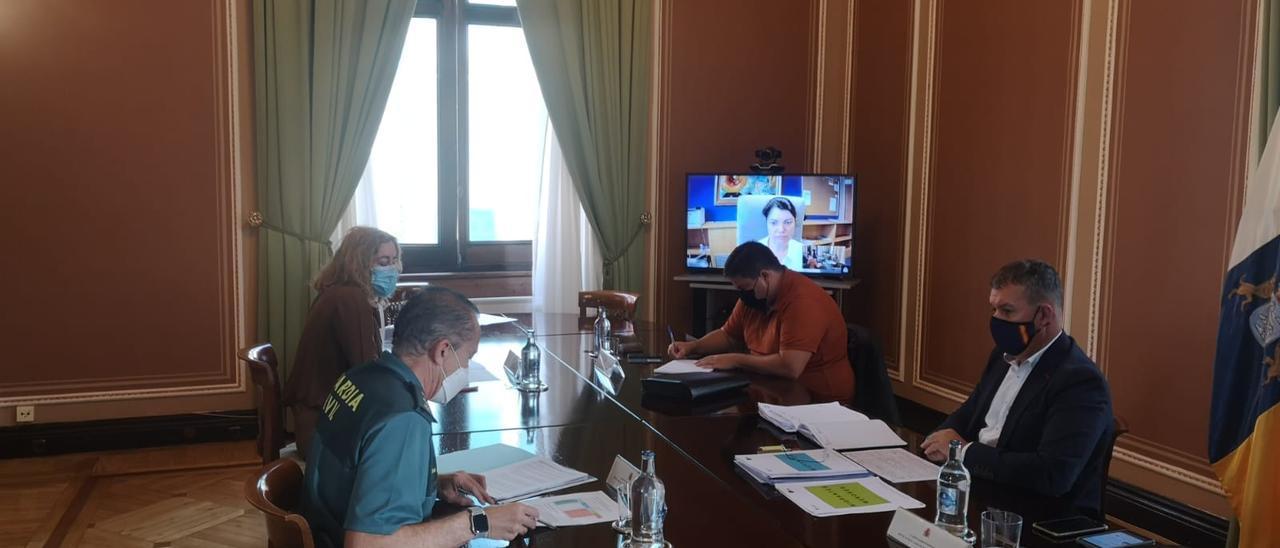 Reuniones de seguridad de Delegación con Mogán y San Bartolomé de Tirajana