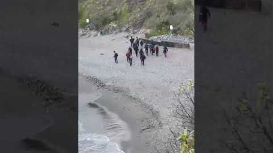 Veintiuna personas llegaron en patera a Málaga durante la crisis migratoria de Ceuta