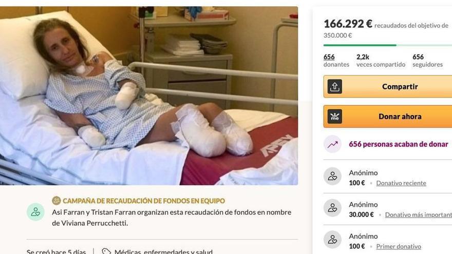 Recolectan dinero para una vecina de Ibiza a la que le han amputado las cuatro extremidades