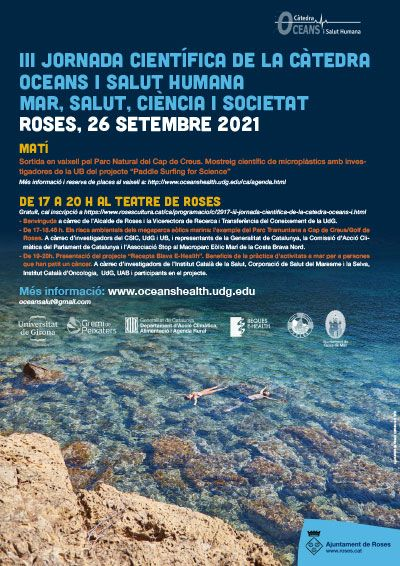 Cartell de la III Jornada Científica a Roses