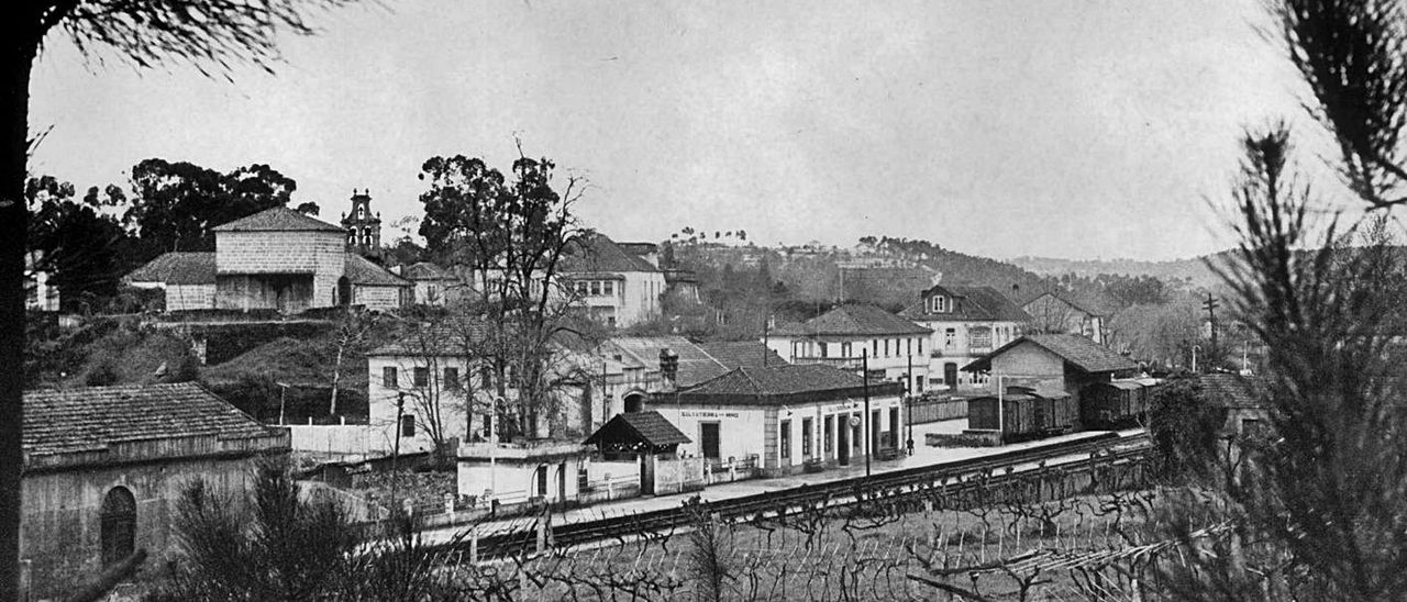 La villa de Salvaterra, a mediados del siglo pasado.   | // FDV
