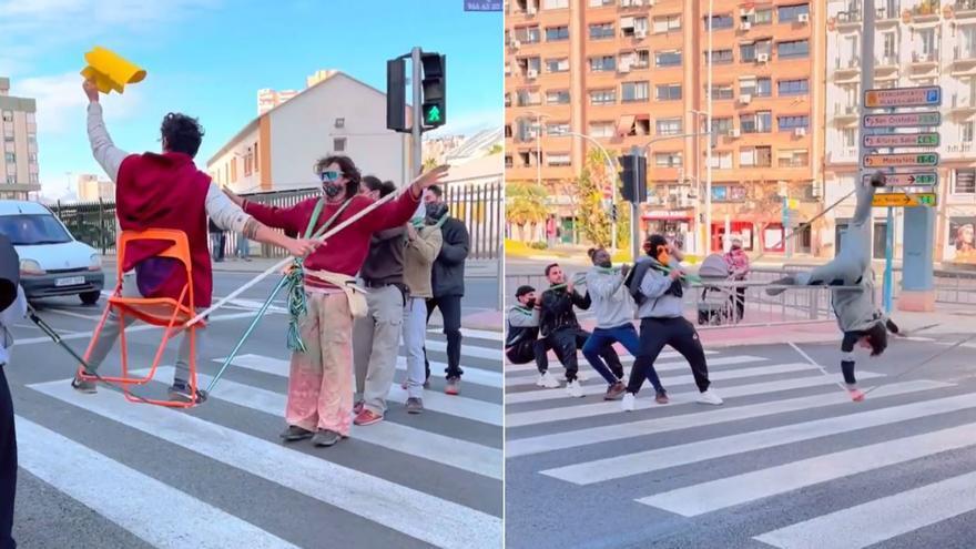 Circo a pie de calle en Alicante