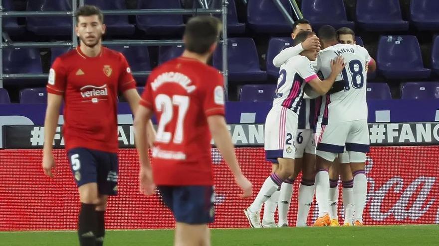 El Valladolid reacciona para dejar al Osasuna en puestos de descenso