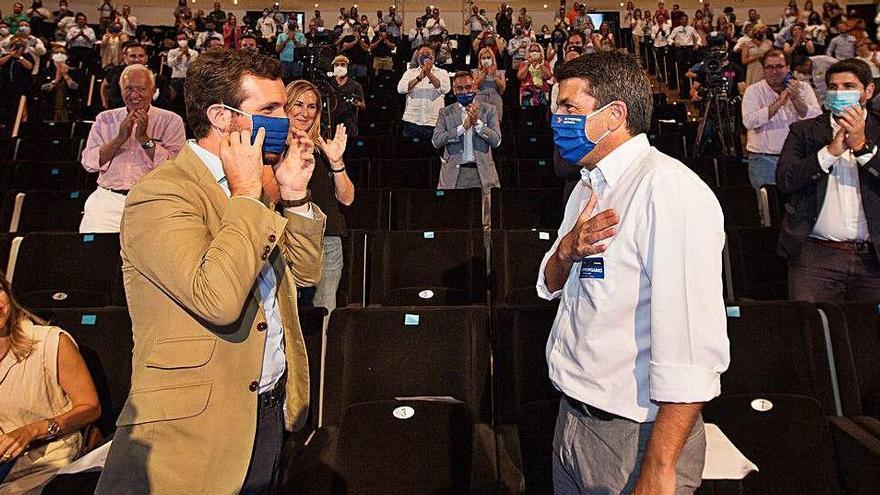 El PP se entrega al liderazgo indiscutible de Mazón con el gran objetivo de reunificar el centroderecha