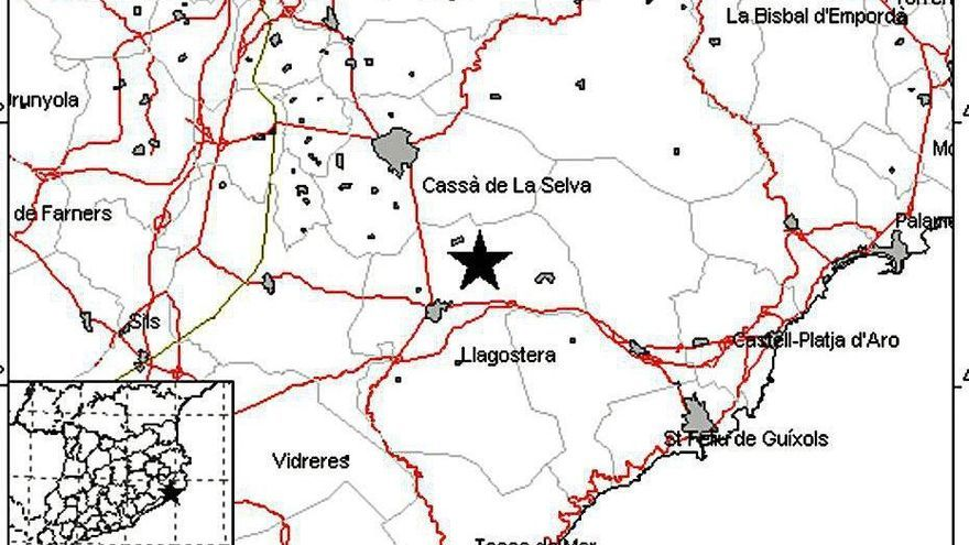Un terratrèmol de magnitud 3 es fa sentir a la Selva, el Baix Empordà i el Gironès