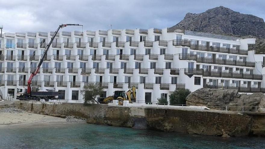 El Consell suspende las obras de reforma del hotel Don Pedro de Pollença por falta de autorización