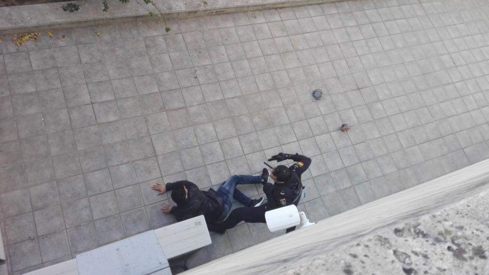 Violenta detención en La Opinión de Murcia