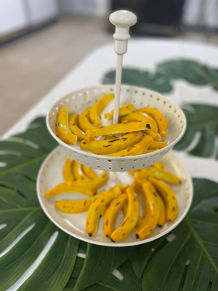 Bombones con forma de plátano.