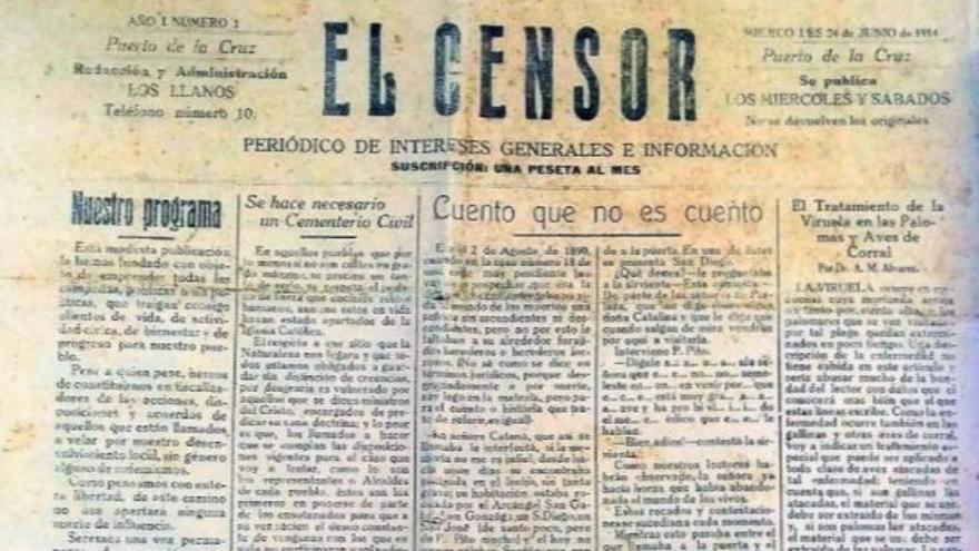 Encuentran un periódico desconocido en la biblioteca de la ULL