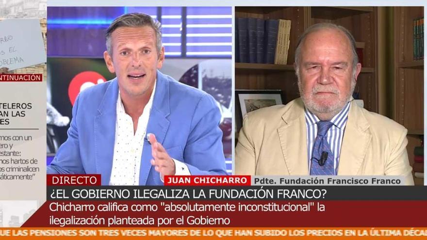 """Momento tenso entre Joaquín Prat y el presidente de la Fundación Franco: """"Dejemos a mi padre en su lugar"""""""