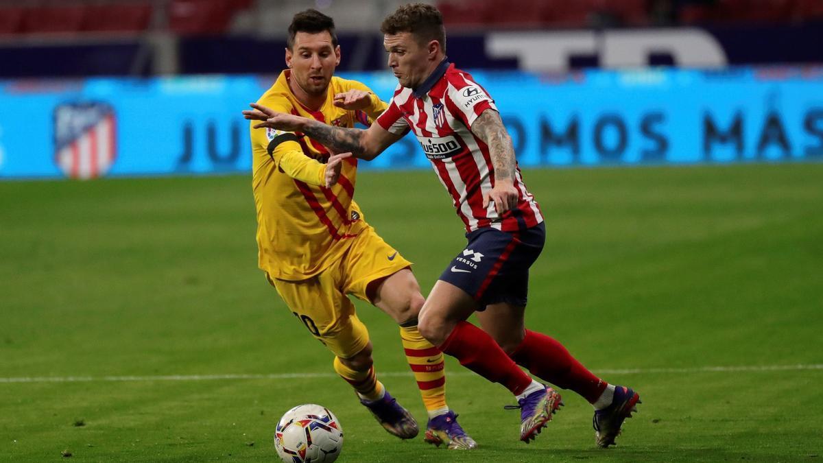 A match between Barcelona and Atlético de Madrid.