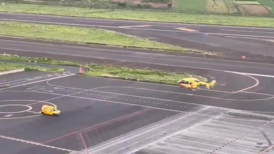 Prioridad para un helicóptero medicalizado en el aeropuerto de Los Rodeos