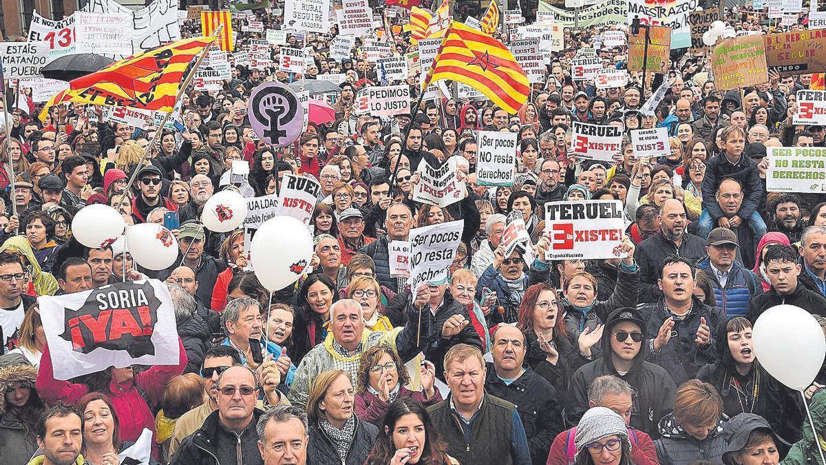 La multitudinaria manifestación de la España Vaciada en Madrid marcó un punto de inflexión