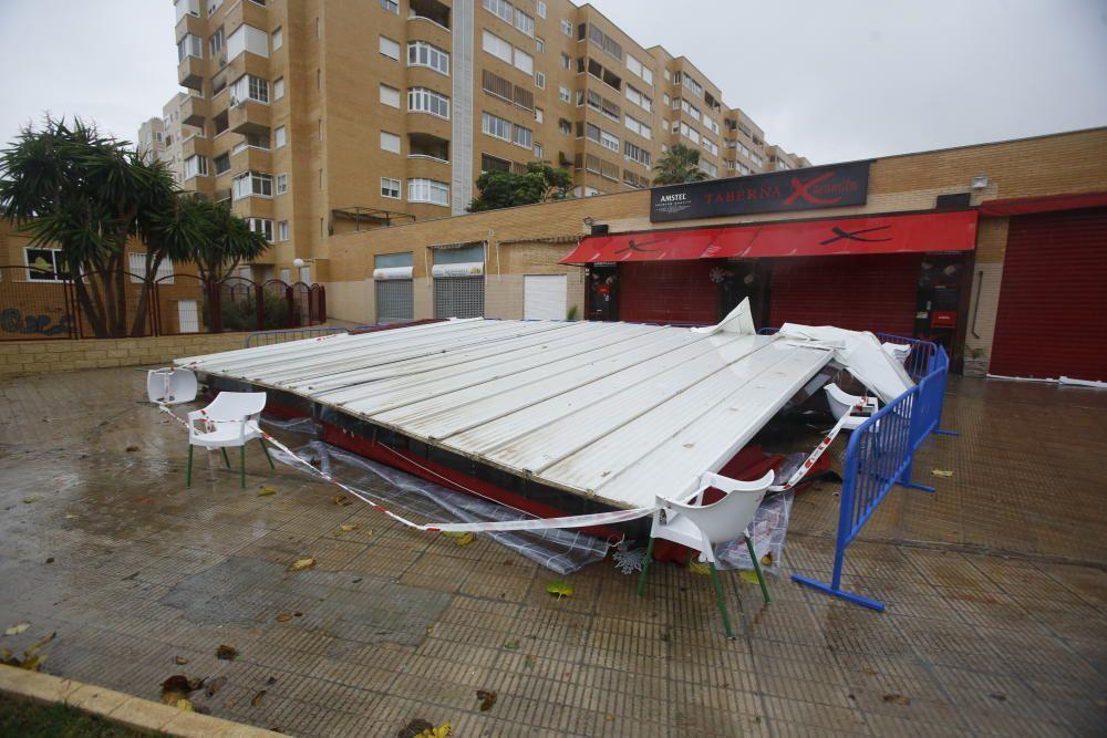 Una terraza desplomada en San Gabriel