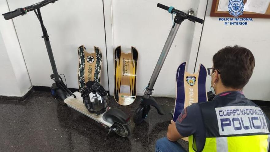 Dos detenidos por robar patinetes en una tienda de la Playa de Palma