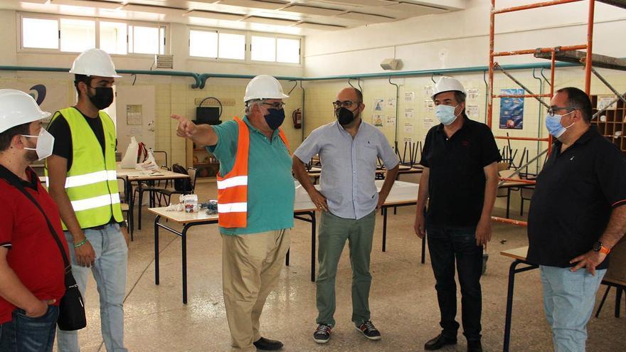 Las obras del CEIP Alfonso X El Sabio estarán finalizadas antes del inicio del curso escolar
