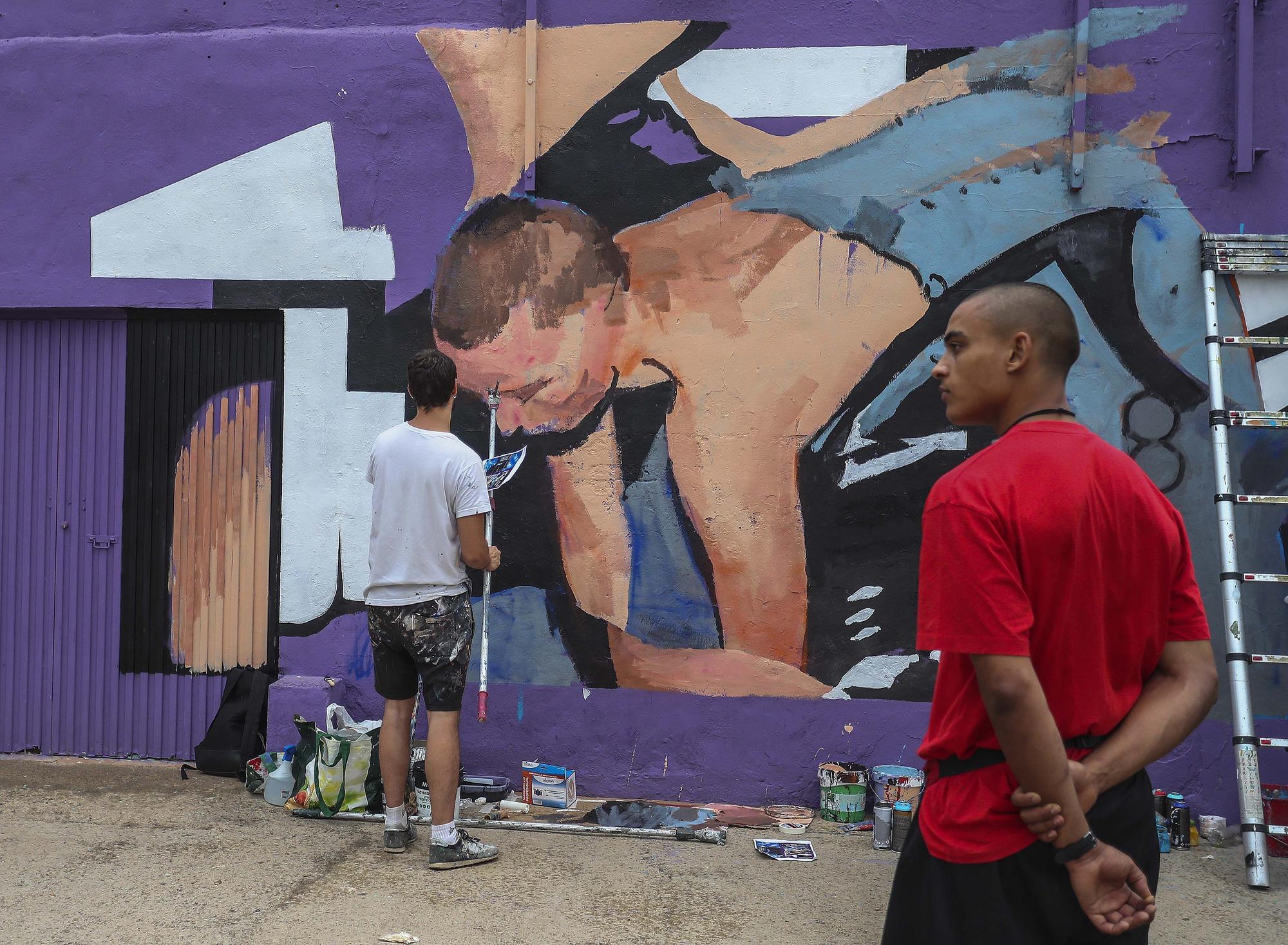 Así ha sido el encuentro de grafiteros y artistas callejeros en el Cabanyal