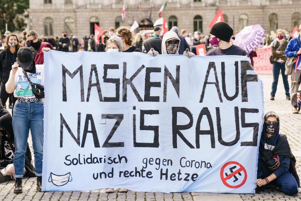Protesta en Berlín por las medidas anticovid