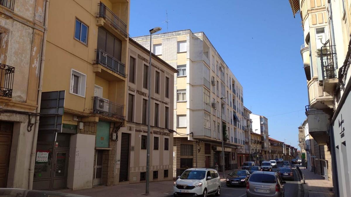 Una vista de la avenida Calvo Sotelo, donde se produjo el suceso.