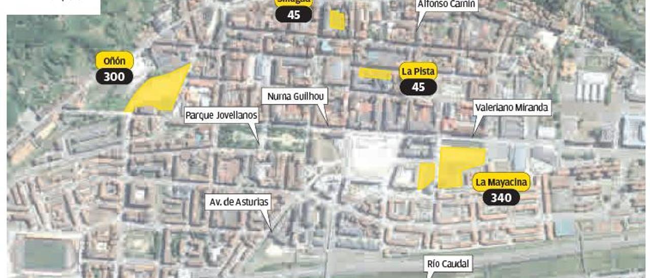 Mieres culmina su red de aparcamientos, con 730 plazas creadas en 2 años y medio