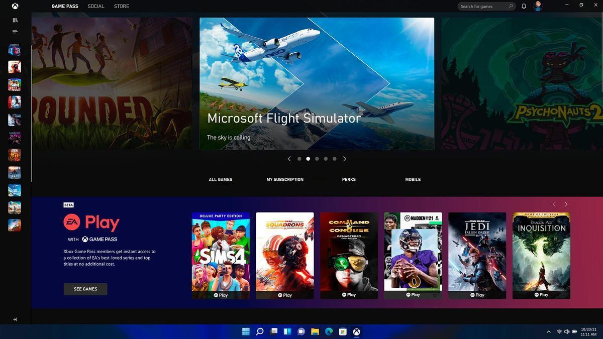 Una pantalla de Windows 11.