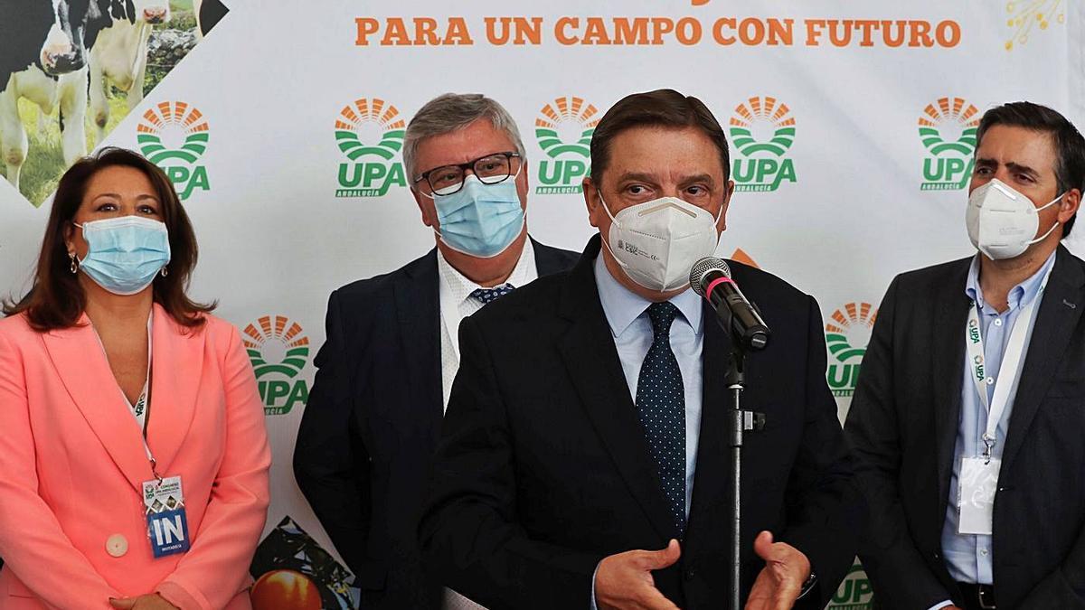 Carmen Crespo, Miguel Cobos, Luis Planas y Cristóbal Cano.