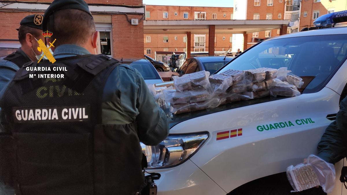 Droga incautada por la Guardia Civil en Zamora.