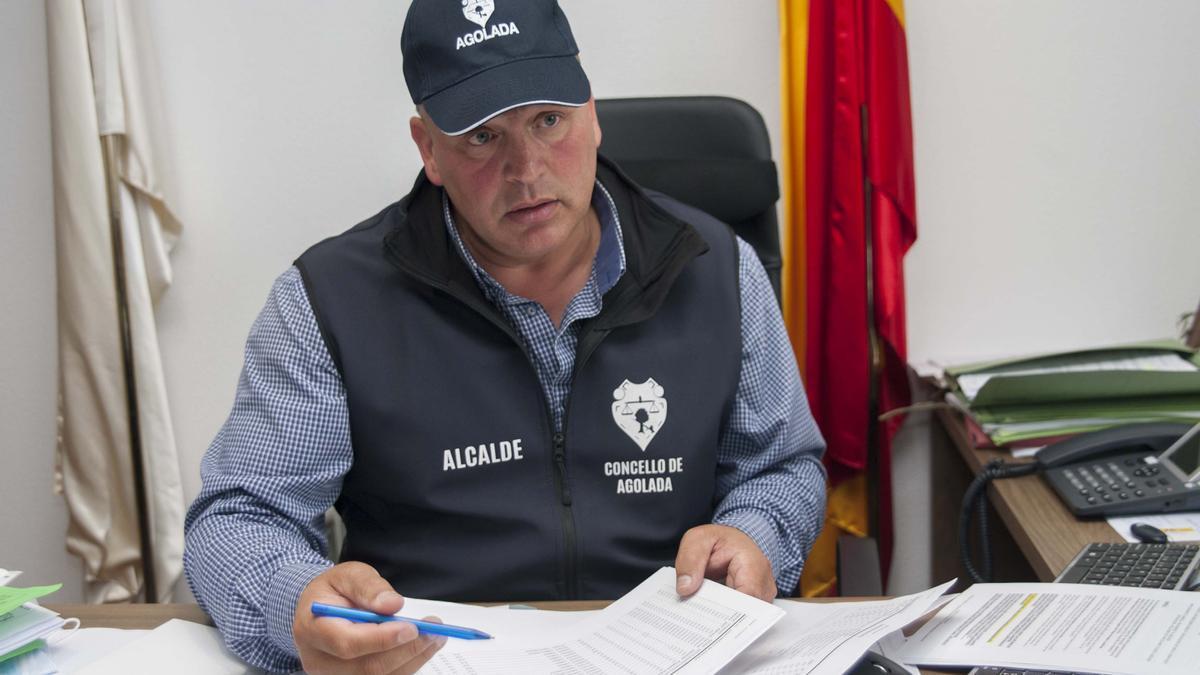 El alcalde de Agolada, Luis Calvo.