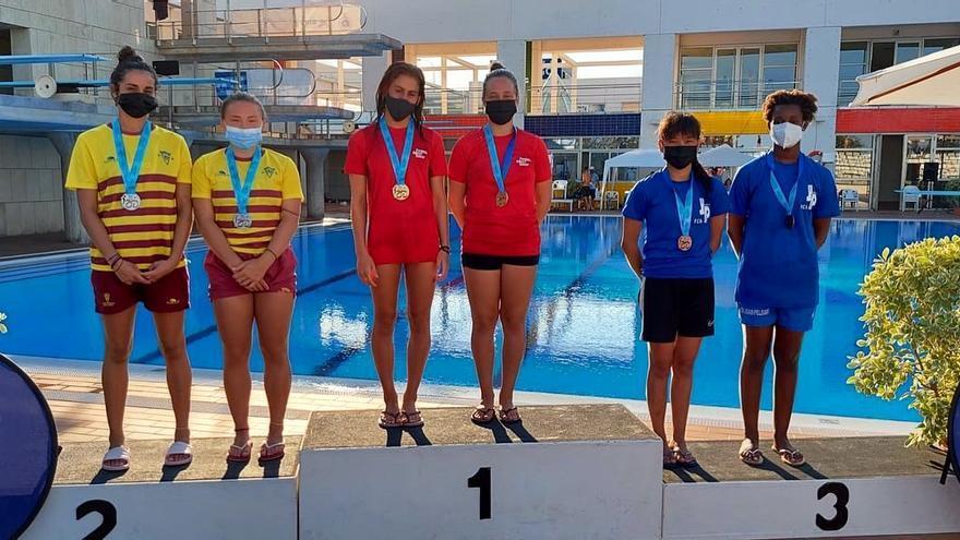 Oro de Marta Rubio e Irene Salguero en el Nacional de saltos en Son Hugo