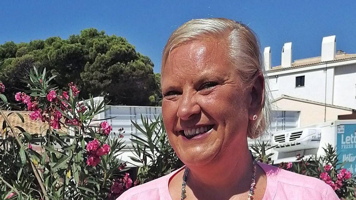 Brautmodenausstatterin, Designerin, TV-Promi: Meike Buschening-Kaffenberger in Cala Ratjada.   FOTO: MONO