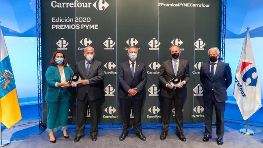 Jucarne y destilerías Arehucas ganan los premios Pyme Carrefour Canarias