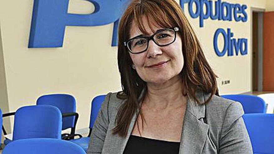 La exalcaldesa Chelo Escrivà baraja aspirar a la presidencia del PP de Oliva
