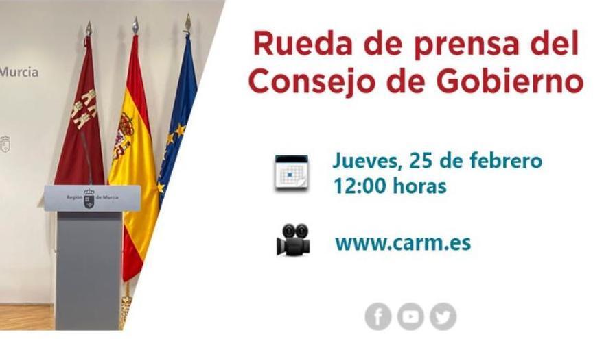 En directo: rueda de prensa posterior al Consejo de Gobierno