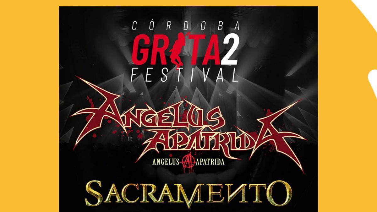 Cartel de la segunda edición del Festival Grita Córdoba.