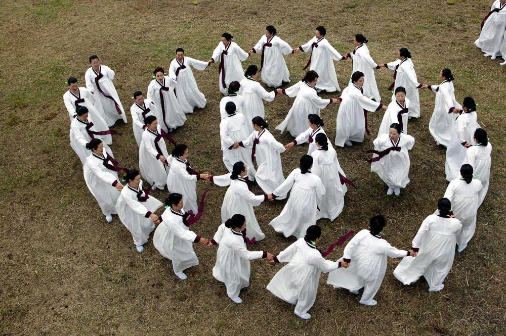 Corea del Sur - El Ganggangsullae, un ritual estacional para impetrar buenas cosechas y fertilidad,