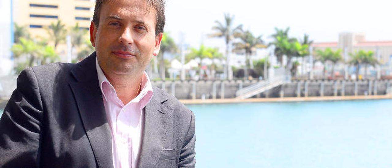 El presidente de la Autoridad Portuaria de Las Palmas, Luis Ibarra.